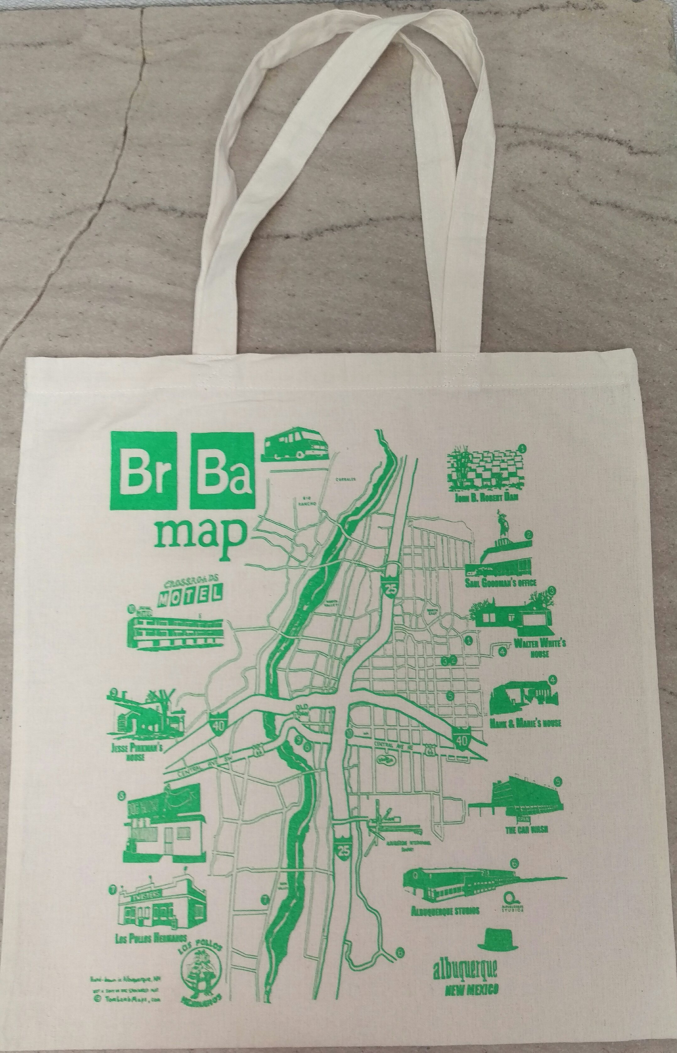Breaking Map Hand Tote