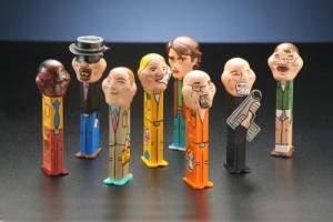 PEZ Dispensers Hand Painted by Steve White