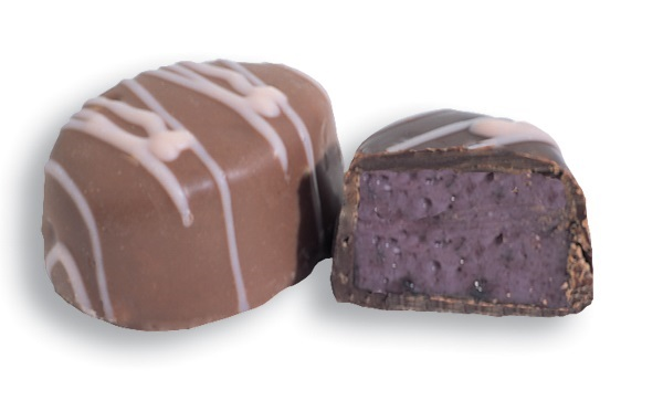 Chocolate Covered Raspberry Creams (half pound)
