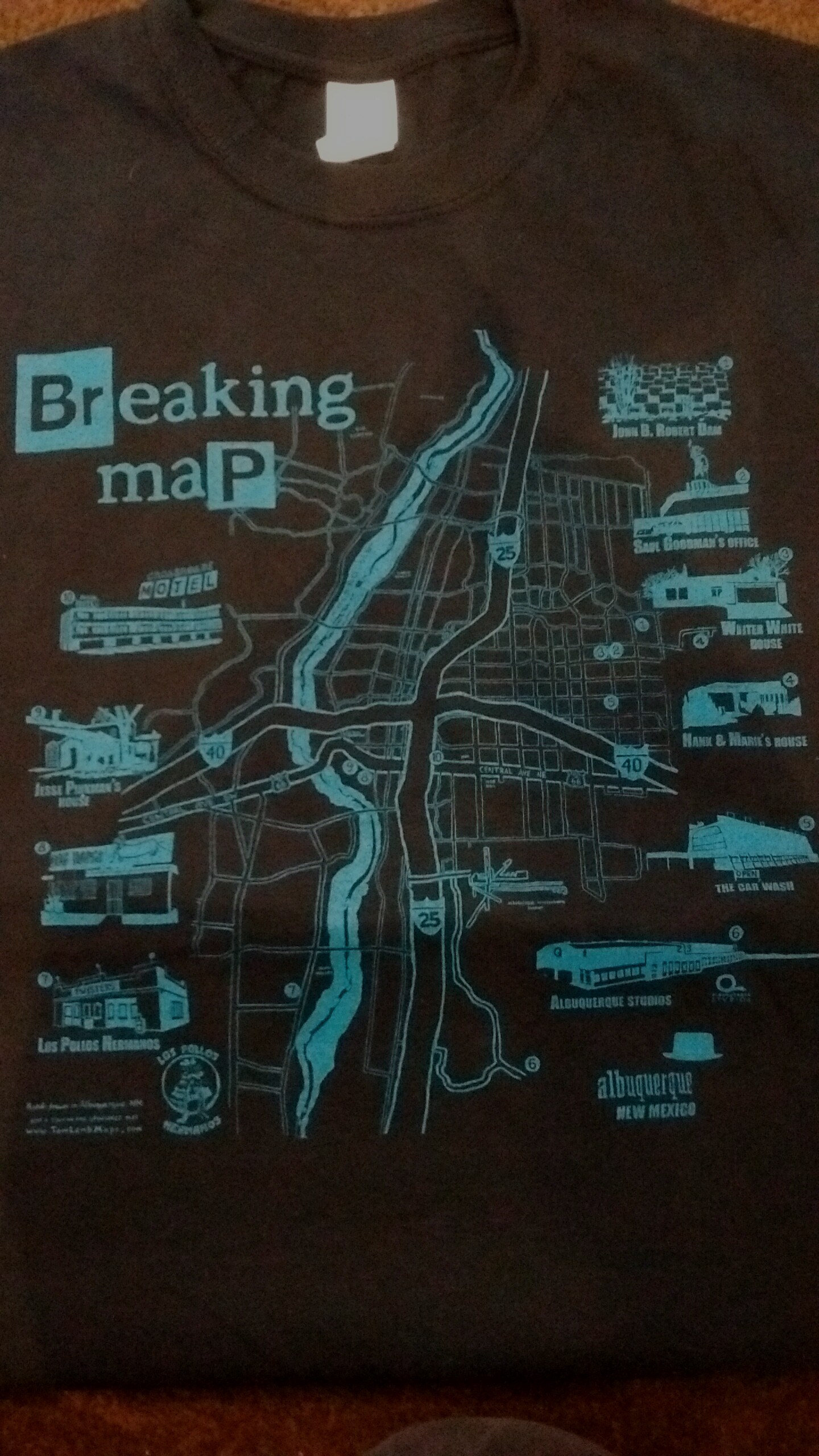 Breaking Map – T-shirt (limited Ed.)