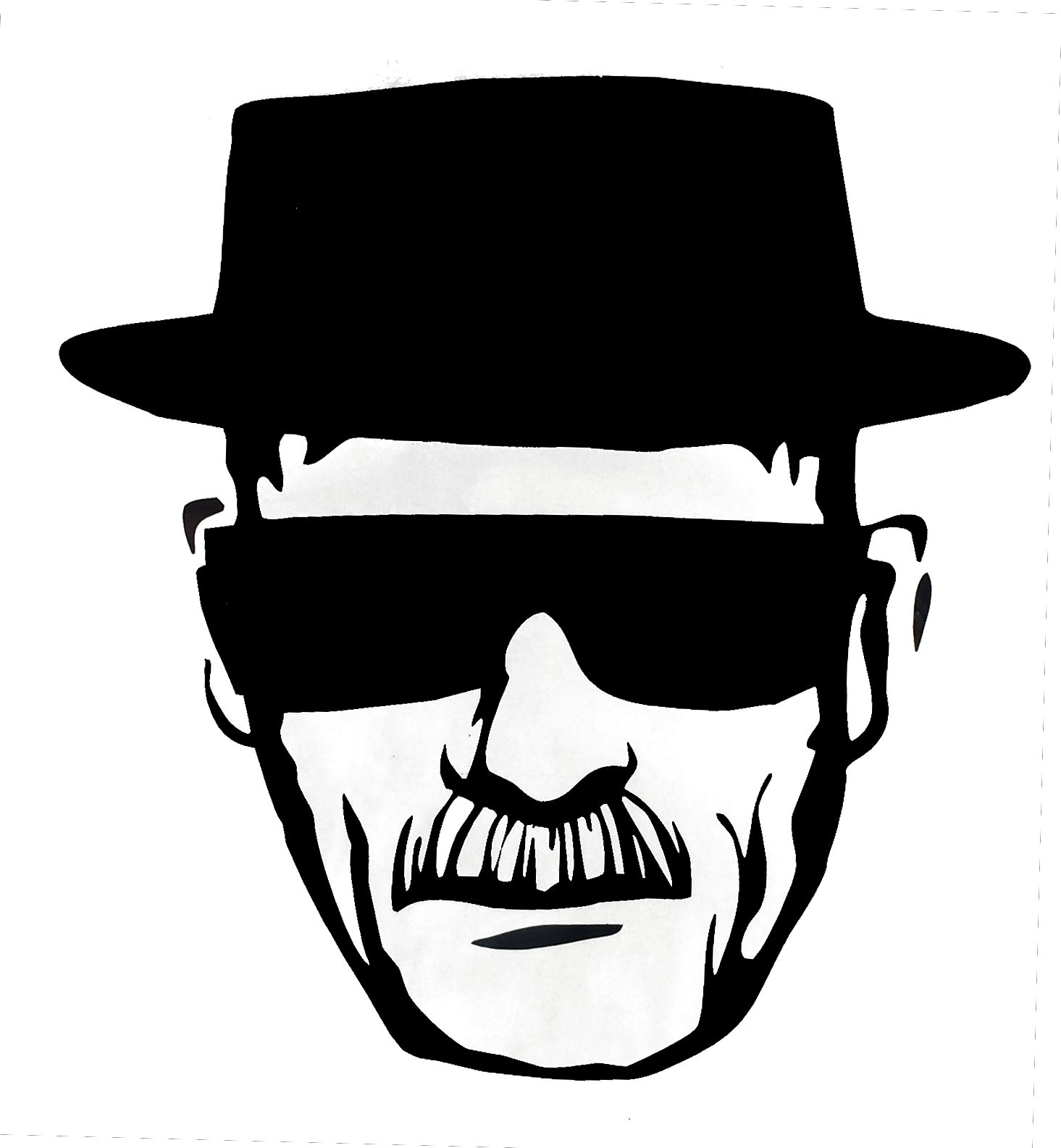 heisenberg decals white or black the candy lady