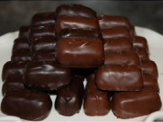 Chocolate Covered Jellies Raspberry or Orange (half pound)